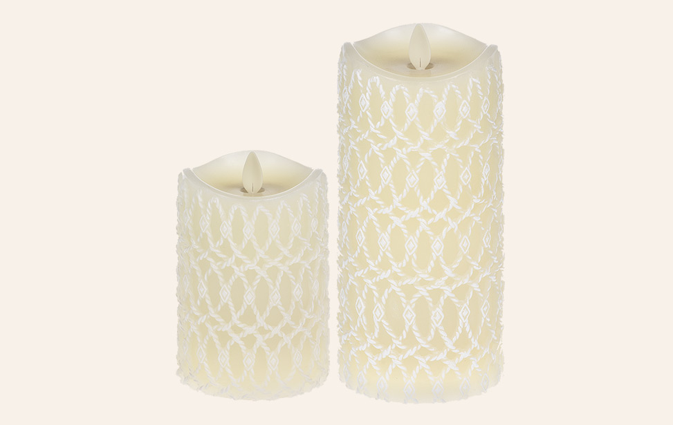 Indoor Led Candles Led Wax Pillar Candles Luxurylite